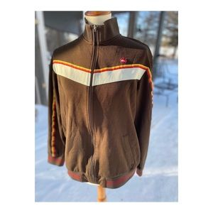 Quicksilver Men's Zip Up Sweater Retro 70s Style